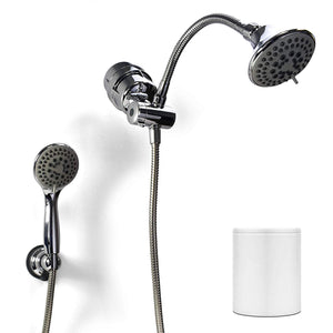ProPur Shower Filter with Dual Massage Head Chrome