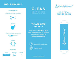 Refrigerator Filter (In-Line) Removes Fluoride 232+ Contaminants up to 99.9%