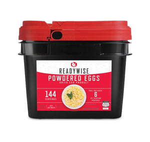 Eggs (Powdered) Grab & Go Bucket / Gluten-Free/ 144 Servings / Emergency Disaster Storable Food Prep (by ReadyWise)