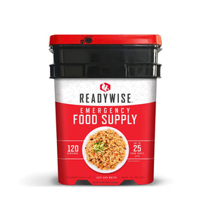 Full Entrées Grab & Go Buckets / 120 Servings / Emergency Disaster Storable Food Prep (by ReadyWise)