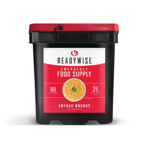 Full Entrées Grab & Go Buckets / 60 Servings / Emergency Disaster Storable Food Prep (by ReadyWise)