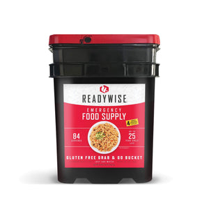 Gluten-Free Choice Grab & Go Bucket / 84 Servings / Emergency Disaster Storable Food Prep (by ReadyWise)