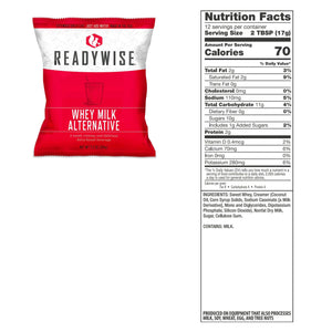 ReadyWise Gluten-Free [120 Servings] Freeze Dried Powdered Whey Milk [Emergency Disaster Storable Food Prep]