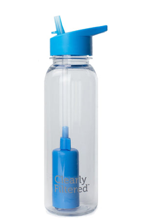 "24 oz Tritan® Medical-Grade Plastic ""Sip & Filter"" Travel Bottle, BPA Free / Removes Fluoride! (by Clearly Filtered®)"