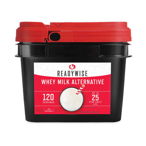 Milk Alternative Grab & Go Bucket / Gluten-Free/ 120 Servings / Emergency Disaster Storable Food Prep (by ReadyWise)