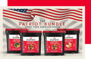 Patriot Bundle [2 Meat Buckets, 1 Veggie Bucket, 1 Fruit Bucket] (by ReadyWise)
