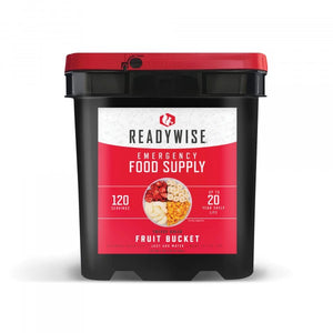 Fruit Grab & Go Bucket / Gluten-Free / 120 Servings / Emergency Disaster Storable Food Prep (by ReadyWise)