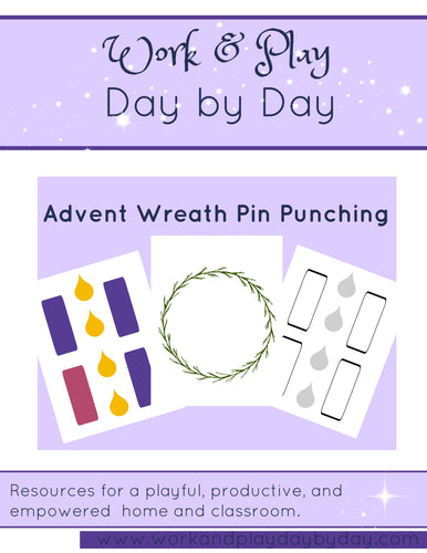 Advent Wreath Pin Punching