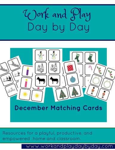 December Matching Game Super Set