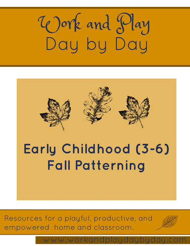 Early Childhood Fall Patterning Strips