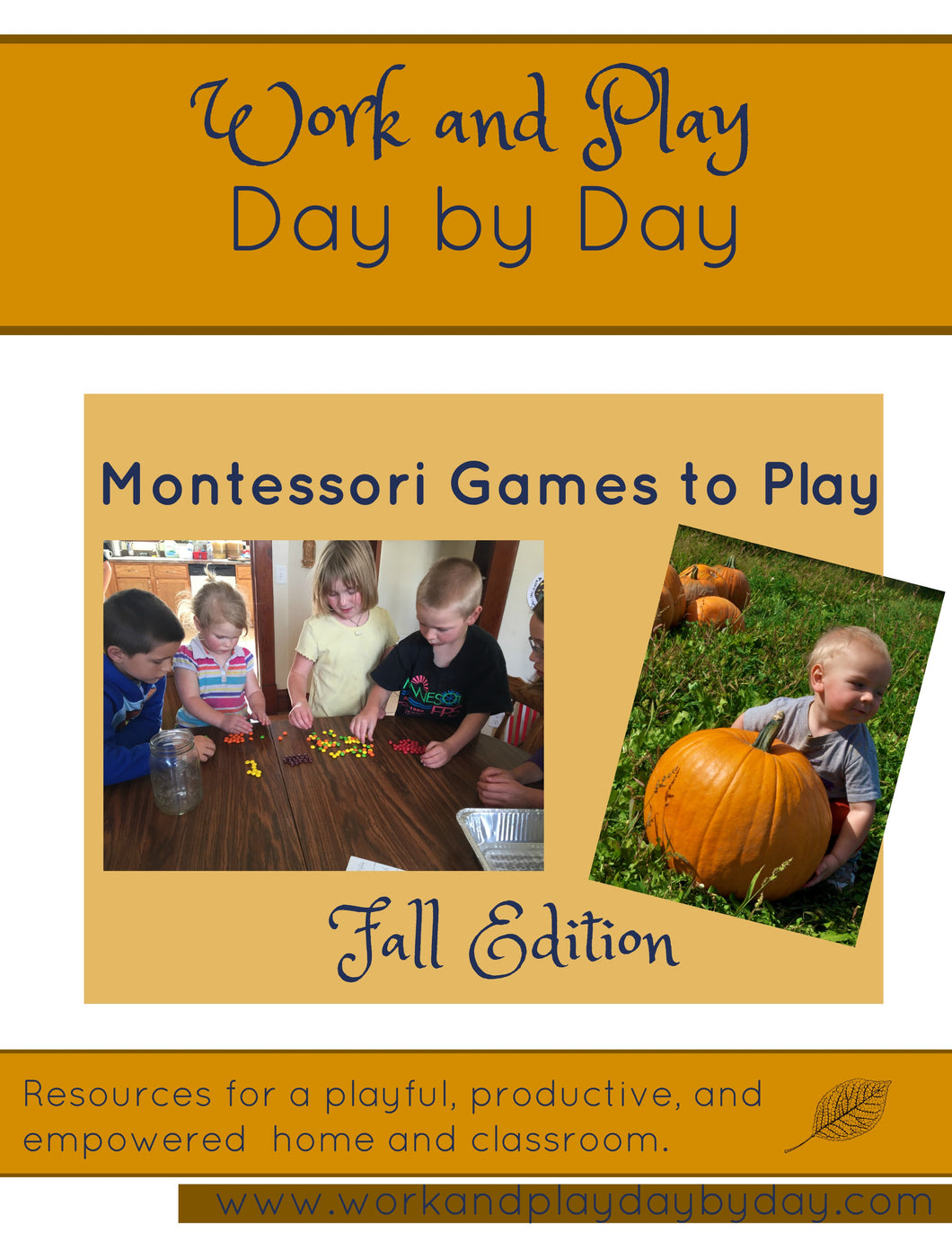 New! Montessori Games to Play Fall Edition {eBook}