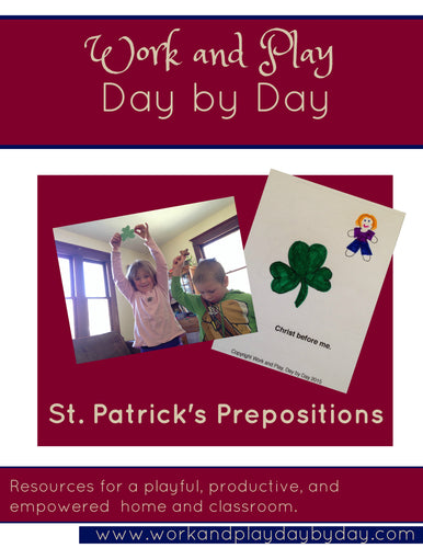 St. Patricks Prepositions Lesson Plan with Printable Booklet