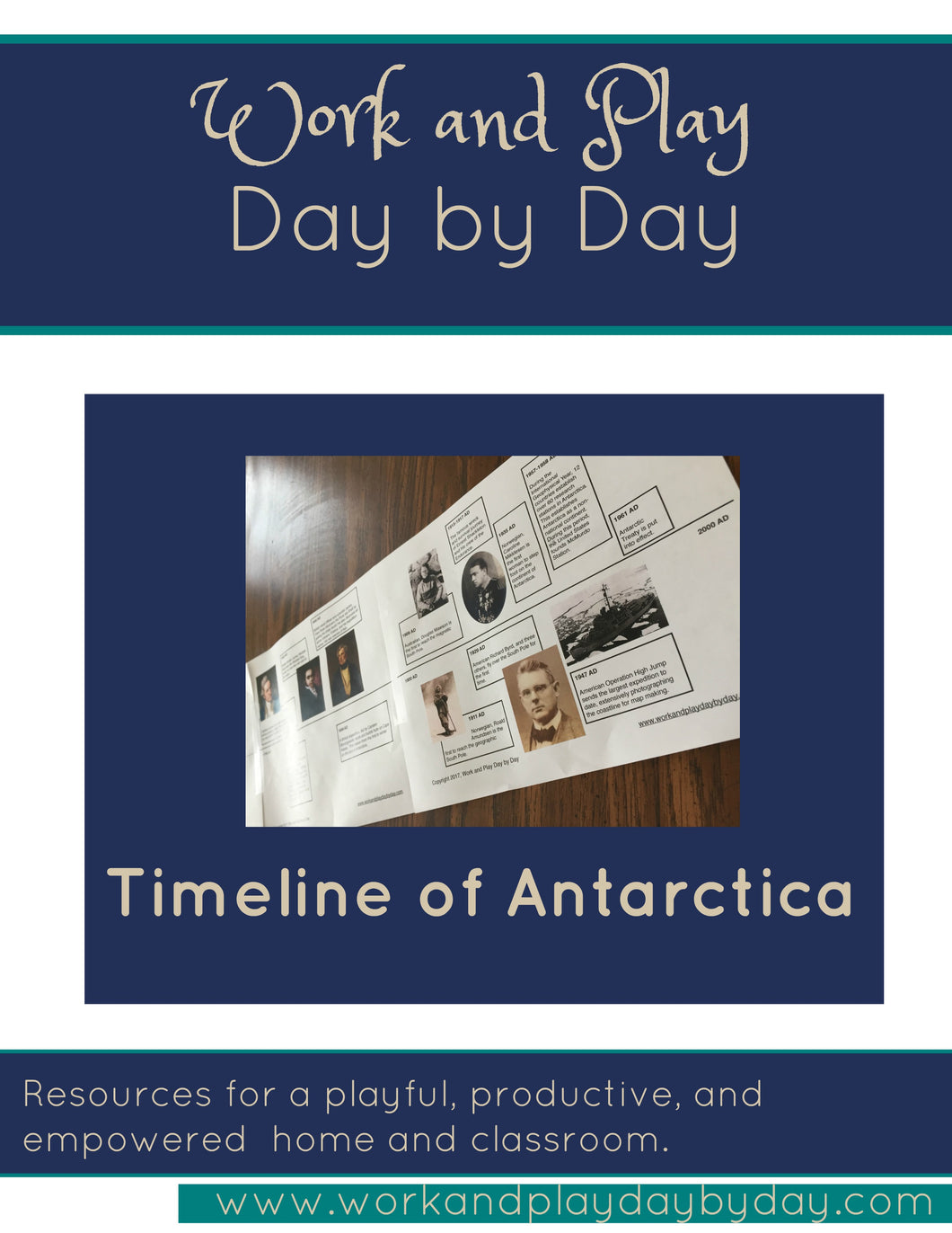 Montessori Timeline of Antarctic Exploration