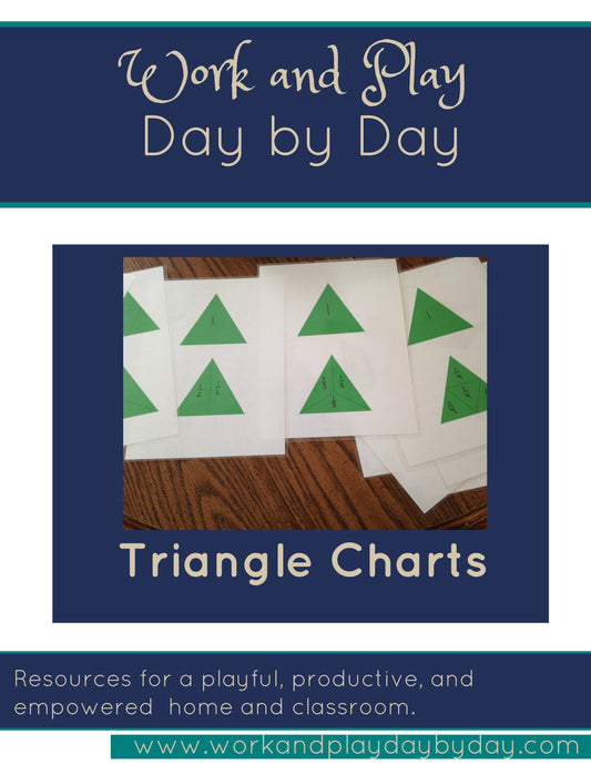 Montessori Geometric Charts:  Triangle Series
