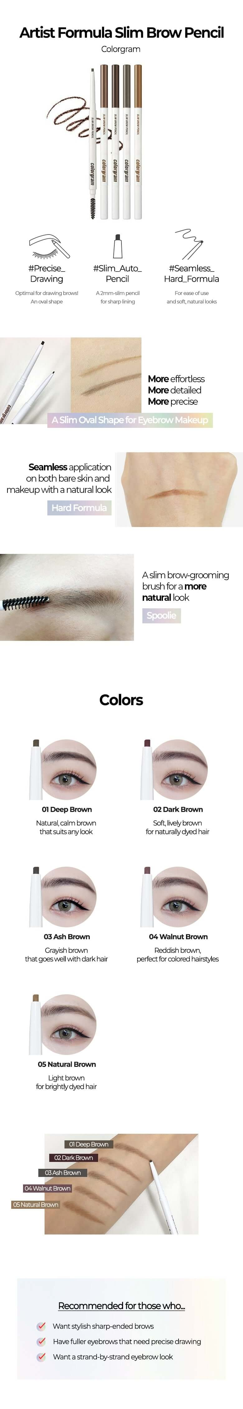 True Beauty / Artist Formula Slim Brow Pencil