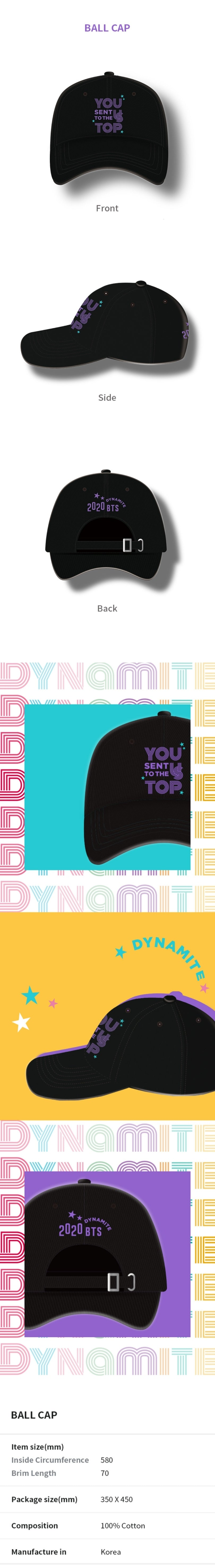 BTS Dynamite Celebration Oficial Merchandise - Ball Cap 02
