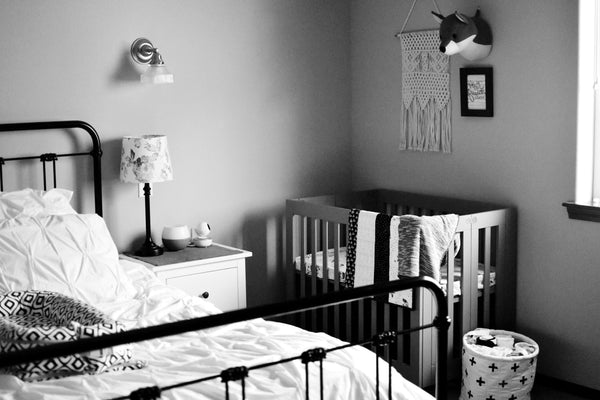 Monochrome woodland theme nursery Wee Gallery