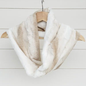 Chickadee Luxe Cuddle Infinity Scarf in Biscotti Angora Minky