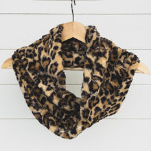 Chickadee Luxe Cuddle Infinity Scarf in Leopard Sand Minky