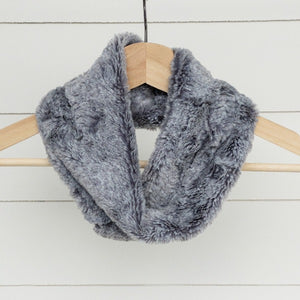 Chickadee Luxe Cuddle Infinity Scarf in Heather Fog Minky