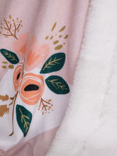 Blush Swan by The Little Ivie Cloth Company with Snow White Seal Luxe Minky