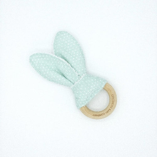 Tiny Hearts in Mint Birch Teething Ring