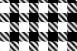 Fitted Crib Sheet in Black and White Plaid Minky