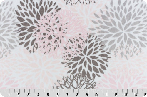 Fitted Crib Sheet in Pink & Gray Bloom