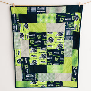 Seattle Seahawks Patchwork Crib Quilt