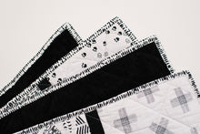 Black & White Toddler Strip Quilt Sir Bear