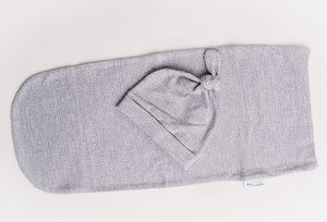 Swaddle Pod in Gray Moonscape