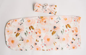 Swaddle Pod in IndyBloomDesign Peachy Blossom