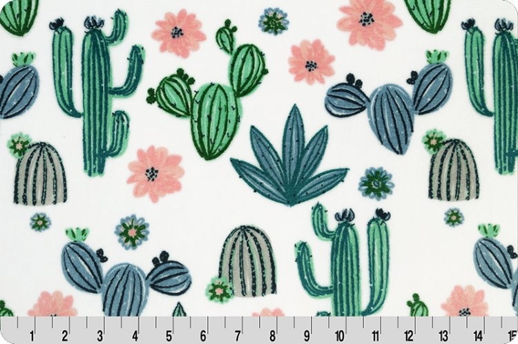 Fitted Crib Sheet in Cactus Bloom Minky