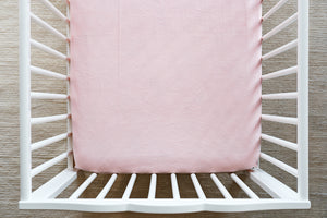 Fitted Crib Sheet in Solid Shell Minky