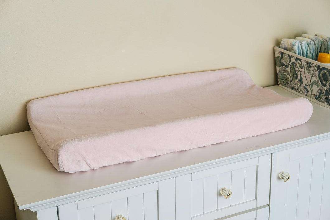 Contoured Changing Pad Cover in Baby Pink