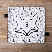 Black and White Fox Extra Large Lovey