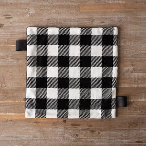 "Black & White Plaid 14"" Lovey"