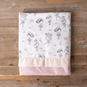 Sweet Ballerina with Rosewater Cuddle Minky