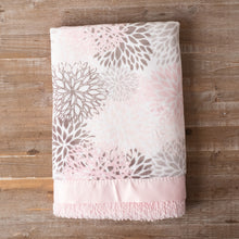 Pink & Gray Bloom Minky with Blush Luxe Chenille Minky
