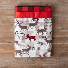 Forest Park Scarlet Minky with Red Buffalo Check Minky