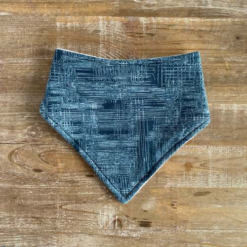 Bandana Bib in Navy Matrix