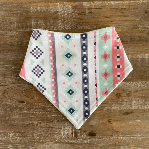 Bandana Bib in Evoked Silver