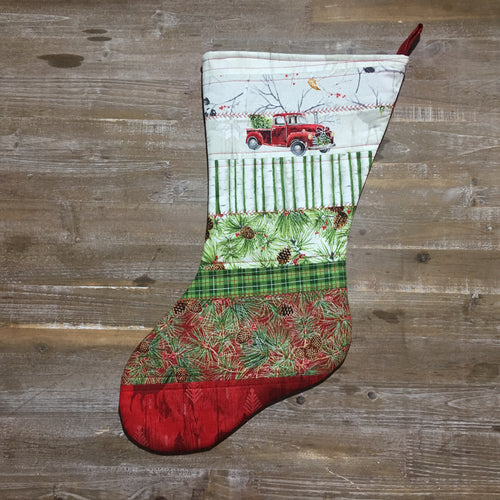 Home for the Holidays Patchwork Christmas Stocking