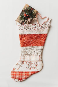 Return to Winter's Lane Patchwork Christmas Stocking