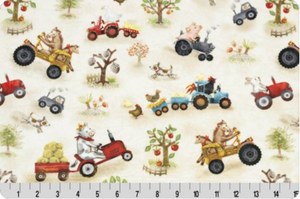 Fitted Crib Sheet in Funny Farm