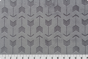 Fitted Crib Sheet in Graphite Gray Embossed Arrow Minky
