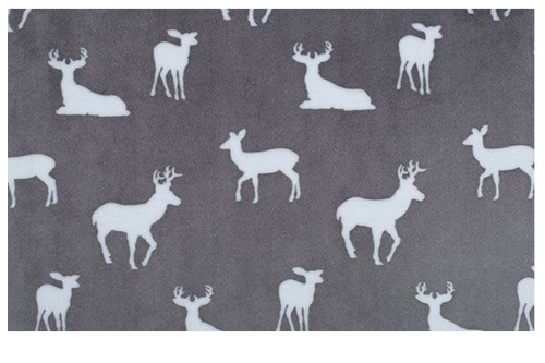 Fitted Crib Sheet in Deer to Me Graphite
