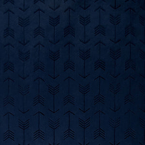 Fitted Crib Sheet in Navy Embossed Arrow Minky