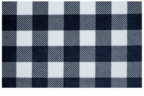 Crib Sheet in Navy and White Plaid Minky