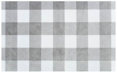 Crib Sheet in Gray and White Plaid Minky